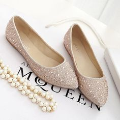 Check out our website for nice shoes and find good  Shallow flat pointed shoes bridesmaid shoes rhinestone champagne banquet Joker fashion feet female wedding shoes silver for your party. huairen provides gorgeous and amazing driving shoes, cheap trainers and blue shoes here.