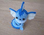 Pokemon Vaporeon Amigurumi - Crochet plush small toy plush