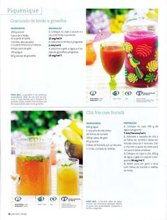 Revista bimby 2011.07 n08 Alcoholic Drinks, Cocktails, Getting Drunk, Sangria, Nom Nom, Food And Drink, Fruit, Health, Easy