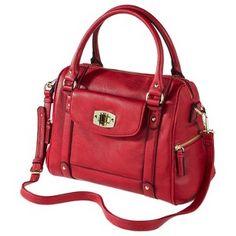 Merona® Zip Closure Satchel - Red