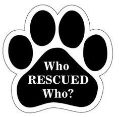 Magnet Me Up I Love My Rescue Pawprint Car Magnet Paw Print Auto Truck Decal Magnet P-18