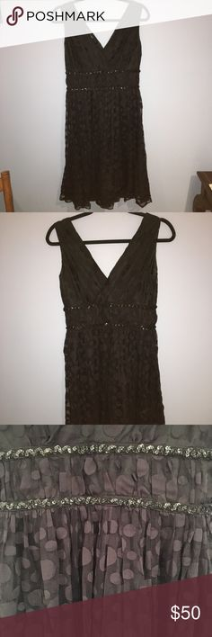 Calvin Klein Black Dress Dots, Black, Sequins Calvin Klein Dresses Midi