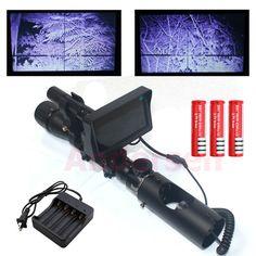 ホット最高の屋外狩猟オプティクス視力戦術デジタル赤外線ナイトビジョンライフル銃でバッテリモニタと懐中電灯