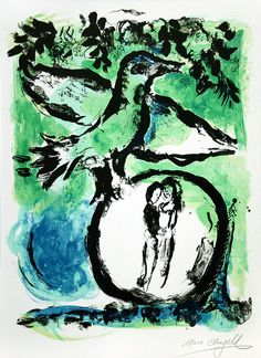 Marc Chagall, L'Oiseau vert (The Green Bird), 1962