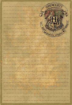 Hogwarts Letterhead Stationery by Sinome-Rae.deviantart.com on @deviantART