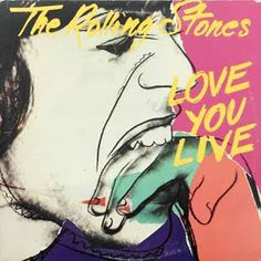 #AndyWarhol designed album covers for many well known bands. Have you heard of The Rolling Stones? - Love You Live - 1977 - 3rd official full live release. cover by Andy Warhol.