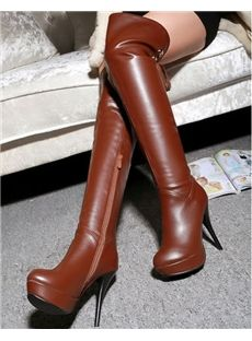 Sexy  Platform Over Knee High Stiletto heel Boots