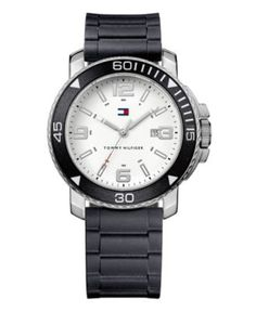 Tommy Hilfiger Watch, Men's Black Silicone Strap 1790811 - Men's Watches - Jewelry & Watches - Macy's