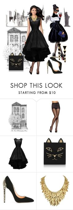 """""""LBD"""" by colonae ❤ liked on Polyvore featuring Hanes, Charlotte Olympia and Cerasella Milano"""