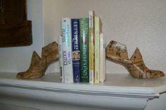Shoe Last Vintage Book Ends sewbuzyb  by sewbuzyb for $76.49