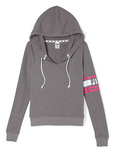 Perfect Pullover PINK LC-335-520 (22E) This supersoft hoodie is a closet staple for effortless everyday style. Must-have sweats by Victoria's Secret PINK. Slim fit Print graphics Soft, light & textured French Terry Split drawstring V-neck Imported cotton/polyeste