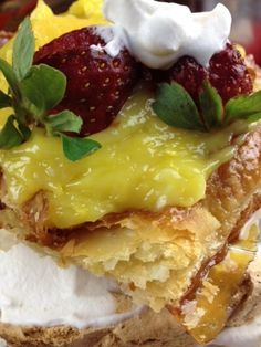 Dessert! Lemon Meringue Torte w homemade #Lemon Curd