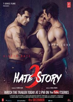 Bollywood Movie Hate Story 3 Wallpaper Wallpapers Also available in screen resolutions. Bollywood Movies Online, Hindi Movies Online, Movies To Watch Online, Watch Movies, Free Movie Downloads, Full Movies Download, 3 Movie, Movie Songs, Movie List