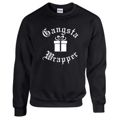 Gangsta Wrapper. Unisex Sweater. Christmas Sweater . Funny Christmas Sweater.  Gangsta Sweater. Ugly Christmas Sweater Contest. by SuperTeesandHats on Etsy