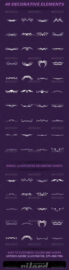 40 Decorative Elements http://graphicriver.net/