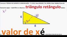 Curso Raciocínio Lógico Matemático RLM Teorema de Pitágoras Hipotenusa  https://youtu.be/4ls5SxEWlI8 C...