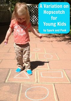 A Variation on Hopscotch for Young Kids - Spark and Pook