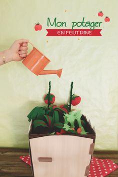 DIY : MON POTAGER EN FEUTRINE - Aux petites merveilles