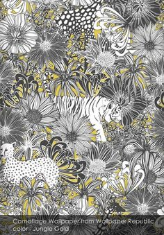 Camoflage wallpaper from Wallpaper Republic in Jungle Gold
