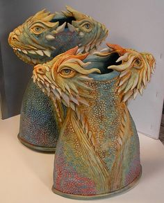 Dragon Vases by coover, via Flickr