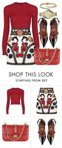 """RED"" by monmondefou on Polyvore featuring Dolce&Gabbana, Valentino, RED Valentino and red"