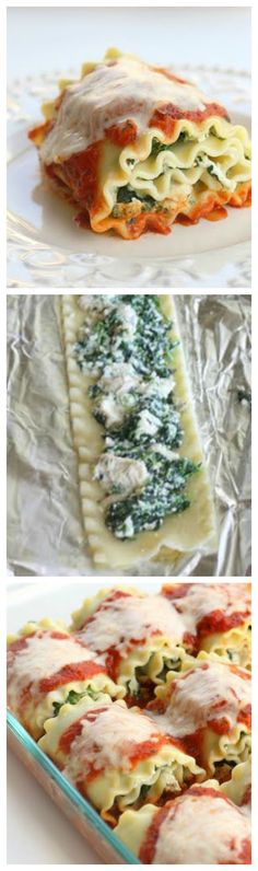 Healthy Spinach Lasagna Rolls - the-girl-who-ate-everything.com