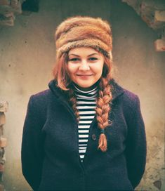 Fur hat, stripes, russian style. Orezeanu Mansion / Conacul Orezeanu Russian Style, Russian Fashion, Winter Hats, Stripes, Fur, Mansions, My Style, Blog, Vintage