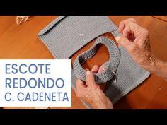 Dar forma al tejido 🧶Escote redondo con cerrado cadeneta ➽ Tejer bien - YouTube Crochet Bedspread, Knit Crochet, Stitch, Videos, Weaving, Knitting, Youtube, Fair Isles, Knitting Patterns