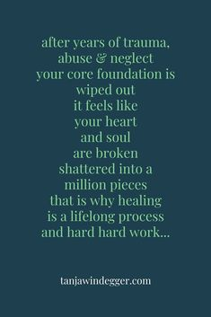 healing from prolonged trauma, abuse and neglect takes a lot of courage, energy & patience complex PTSD, anxiety, depression. Trauma Quotes, Abuse Quotes, Depression Treatment, Stress Disorders, Anxiety Disorder, Mental Disorders, Complex Ptsd, Thoughts, Narcissist