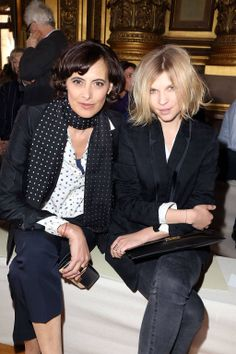 Ines de le Fressanfe and Clemence Poesy at Stella McCartney