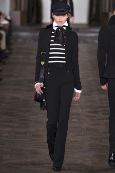 Ralph Lauren 2013 fall rtw. I adore these pants. And I love the shiny shoes peaking out.