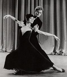 "Baryshnikov/Kudo dancing Twyla Tharp's ""Sinatra Suite"". Love."