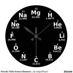 Shop Periodic Table Science Elements Custom Wall Clock created by Personalize it with photos & text or purchase as is! Science Symbols, Science Humor, Science Art, Biology Humor, Grammar Humor, Physical Science, Chemistry Classroom, Teaching Chemistry, Science Chemistry