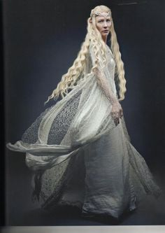 Cate Blanchet as Galadriel in The Lord If The Rings. If I could wear her dresses every day, I would be a happy woman. Haha, bah! I'd end up getting them completely ruined! :P :)