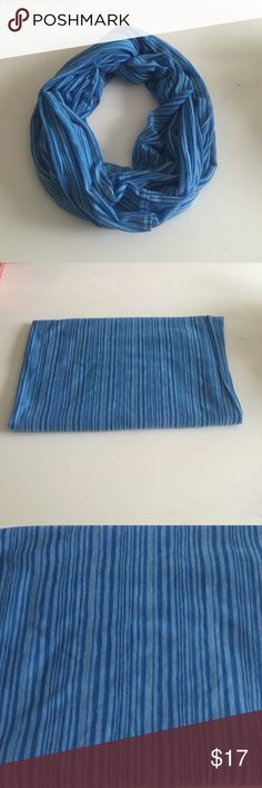 Gap infinity scarf Gap blue stripe polyester/rayon infinity scarf, great condition never used GAP Accessories Scarves & Wraps