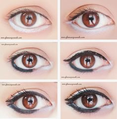 Doll Eyes Tutorial - How To Make Your Eyes Look Big Using Double Ended Eyeliner