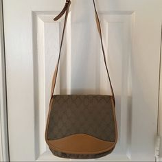 Selling this 🌟 Vintage Gucci Logo Leather Cross Body Bag in my Poshmark closet! My username is: saccardi. #shopmycloset #poshmark #fashion #shopping #style #forsale #Gucci #Handbags