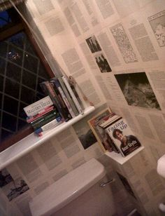 My downstairs loo decor. Downstairs Bathroom, Amazing Bathrooms, Toilet, Strawberry, Bathtub, Home, Ideas, Decor, Standing Bath