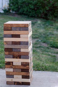Jenga géant en bois pour l'extérieur. DIY si pas trouvé ailleurs?