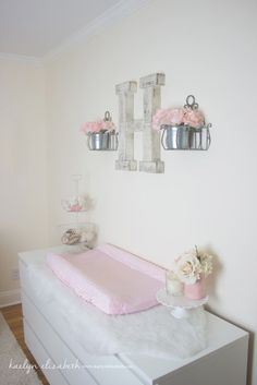 Create a sweet nursery with this Shabby Chic inspiration for a little girls room.