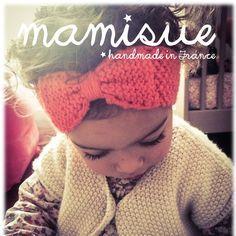 Bandeau tricoté pour bébé en laine pour fille