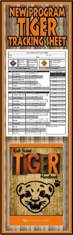 Need a way to track * TIGER requirements for the NEW Cub Scout Program? This is a great free PRINTABLE Tracking sheet for Organizing. This site has other tracking sheets and a lot of great Cub Scout Ideas compliments of Akelas Council Cub Scout Leader Tra Cub Scouts Wolf, Tiger Scouts, Cub Scout Crafts, Cub Scout Activities, Scout Mom, Girl Scouts, Cub Scout Skits, Scout Games, Martha Stewart