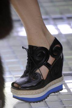 THE shoe of the season: Prada's cut out platform wedge shoe, S/S 2011