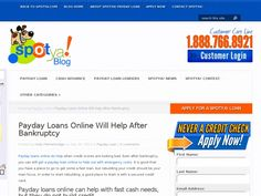 Payday loans online do help when credit scores are looking bad. Even after bankruptcy, you can still get a payday loan online to help out with emergency costs. It is good that you have a place to go to get some a fast loan, but rebuilding your credit should be your main focus. In order to start rebuilding, a good place to start is with a secured credit card.