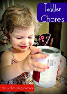 Toddler Chore Ideas