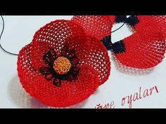 Needles Play, Brazilian Embroidery, Irish Crochet, Beaded Flowers, Hair Pins, Poppies, Crochet Earrings, Crochet Hats, Knitting