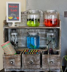 Mad Scientist Party -- can use some of these ideas for my godsons halloween bday party