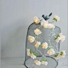 Vintage Champagne longer  French Roses Fairy Lights par PamelaAngus, €25,00