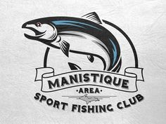 Manistique Area Sport Fishing Club Logo Final by Ben Stewart (Marquette, MI)