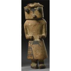Hopi Polychromed Wood Kachina Doll, Depicting Hote | Lot | Sotheby's